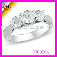 CZ STONE WHITE GOLD PLATED DIAMOND WEDDING RING WOMAN FINGER RING