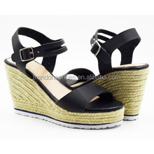 2015 Summer Sexy Fish Mouth Women's Wedge Sandals Thick High Heel High Waterproof Fashion Shoes