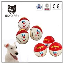 Rubber cute dog balls toys pet hot toy
