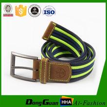 Factory Price Many eyelet Blue fashion fabric men belts