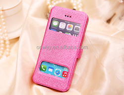 Ultra Thin Front Double View Window PU Leather Flip Case For iPhone 6 4.7'' 5.5''