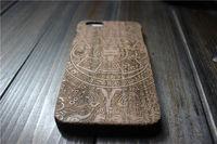 2015 Stylish wooden fashion design laser engraving smart phone case wood factory price hard plastic shell