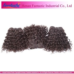 No Chemical unProcess Great Quality Virgin Brazilian Hair Weft Sealer For Hair Extension