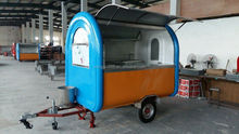 According to your requirements Customized colorful street mobile food cart / food truck