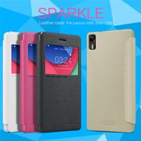 Lenovo VIBE Shot Z90 Case Cover+Touch-U Holder , NILLKIN Sparkle PU Leather Flip Phone Cover Case for Lenovo VIBE Shot Z90