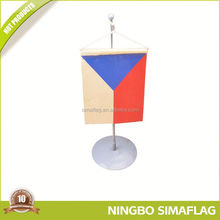 Hot sale factory directly telescopic flags with aluminum flagpole