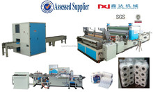Automatic high speed kitchen towel and toilet paper roll converting machine