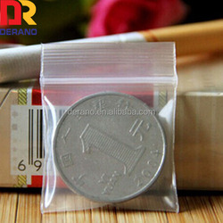 pe/plastic custom mini ziplock bag for packaging