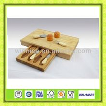 cheese and board cheese knives set with cutting board