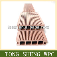 Tong Sheng water resistance wpc flooring. High quality, CE certificate, wood plastic composite decking