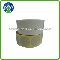 High quality variety shapes die cut adhesive circular label stickers