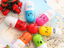 Novelty Retractable Capsule Shape Kids Pens