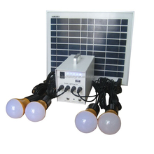 OEM 10 w solar plug and play portable lighting system