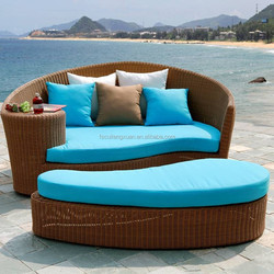 rattan bed bench in Patio