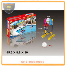 Promotional water basketball stands for kids with plastic hoop