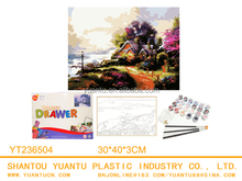 diy kids digital painting canvas educational toys 3D picture made in China
