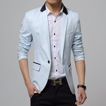 WS890 One Button Single Breasted Casual Blazer for Men Slim Fit Blazer Jacket Men Blazer Designs
