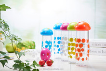 mushroom design plastic water cup,hot sale jug with portable