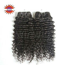 power cheap and high quality sticker100%AAAAA+ long curly clip in human hair extension for black women