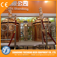 Red copper beer brew kettle/craft beer brewing equipment