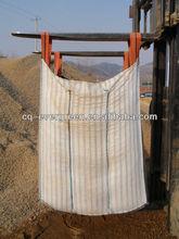 raw material PP big square bag jumbo bag, Polyproplene woven big bag for sand 1000kg china manufacture