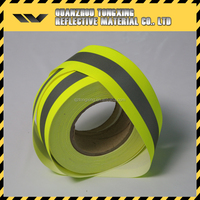 fireproof Fluo-yellow Reflective Fabric tape