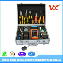 High quality ftth fiber optic cable tool box kit, splicing tool kit