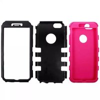 New Style Six Spots Robot Pattern Cover Shell , 3in1 Detachable Matte PC+Silicone Hybrid Mobile Phone Case for iPhone 6 4.7 inch