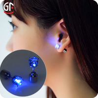 Best Bussiness Items For Young Girls Wedding Dance Party Decorations Flashing LED Stud Earrings