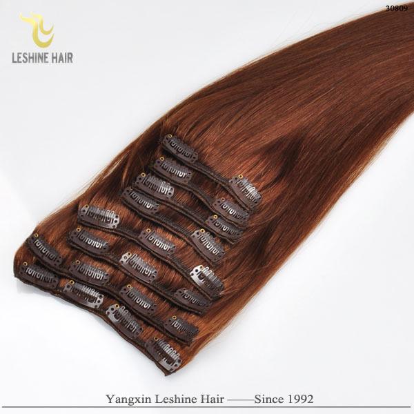 2015 Vente Chaude Remy Haute Qualité cheveux double drawn griffe clip queue de cheval de cheveux humains extension