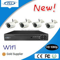 Hot selling 2 mega pixels full hd cctv infrared bullet 4 channel wireless security camera systems