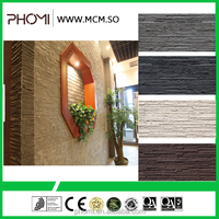 Flexible clay Modern house design wall decoration Flexible compact 35 piece slate stacked stone
