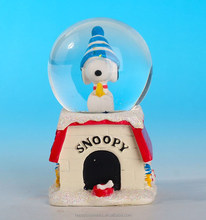 Personalized souvenir gifts,gifts for 7 year olds,likeable cartoon dog snowdome