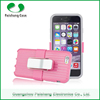 PC+Silicon Smartphone Support clip Anti-throw hybrid cell phone combo case 8 colors for iphone 6 / 5 / 4
