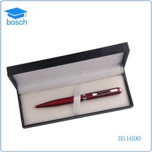Personalized Red Gold Pen Letter Opener Gift pen in leather box