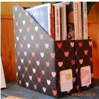 WJ157 Black Heart pattern magazine paper storage box