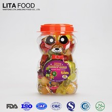 Natural fruit flavor 16g fruit flavor jelly cup in bear jar