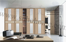 2015 New design wooden sliding door with mixed thinkness