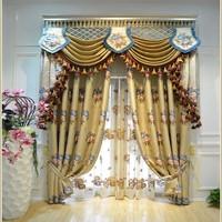 Tassel Decoration Pattern Custom Jacquard Curtain With High Quality