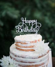 Happy birthday glitter cake topper birthday party decoration