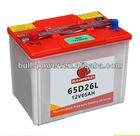 Coreano de bateria de carro preço 12v 65ah, recondicionados baterias de carro para venda