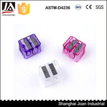 double hole cuboid plastic pencil sharpener