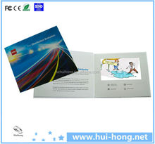 Alibaba wholesale LCD video Brochure / video business card in A4 / A5 paper 2.4 inch mini video brochure customize