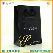 Jewelry Recycled Small Black Kraft Matt Paper Bag for Gift packaging
