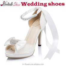 Wholesale white/ivory color slingback high heel wedding shoes