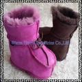 Heißer verkauf hand- schafsleder baby shoes