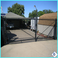 Beauty 4M(L)*2M(H)Ornamental Steel Fence &Doublegate