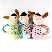 Wholesale chewing ball plush toy for dogs