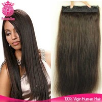 Direct factory 8A 220g remy clip in hair extension one piece clip in human hair extensions