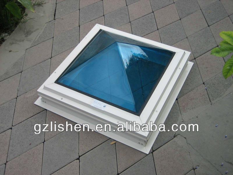 polycarbonate d me toit mat riau bleu puits de lumi re. Black Bedroom Furniture Sets. Home Design Ideas